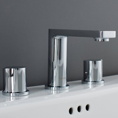Friedrich Widespread Knob Handle Bathroom Faucet Finish: Polished Chrome