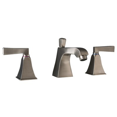 Severo 3 Piece Widespread Wrist Blade Bathroom Faucet Set Finish: Brushed Nickel