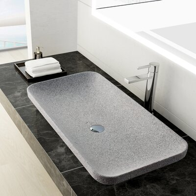 Ivins Stone Rectangular Vessel Bathroom Sink