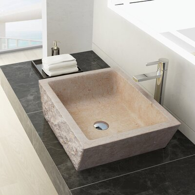 Branson Stone Square Vessel Bathroom Sink