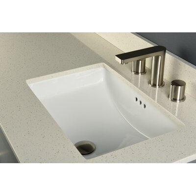 Bristol Rectangular Undermount Bathroom Sink with Overflow Sink Finish: White