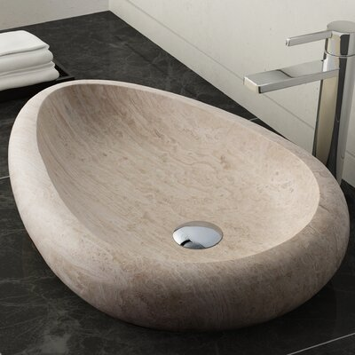 Colstrip Stone Oval Vessel Bathroom Sink