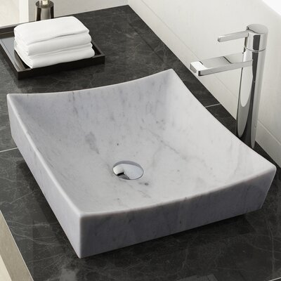 Benton Stone Square Vessel Bathroom Sink