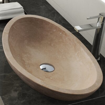 Livingston Stone Oval Vessel Bathroom Sink