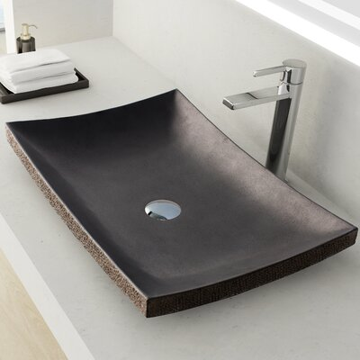Payson Stone Rectangular Vessel Bathroom Sink