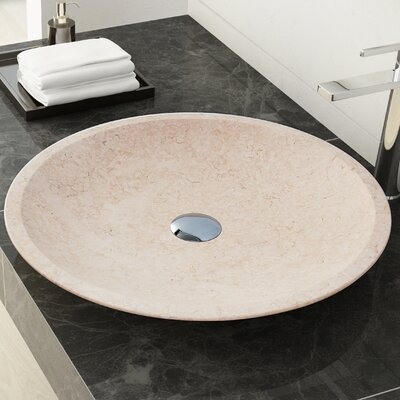 Dillon Stone Circular Vessel Bathroom Sink