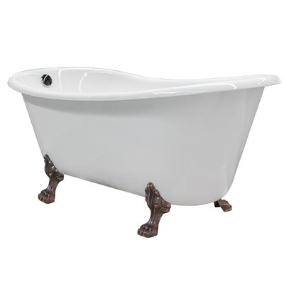 Doris Cast Iron Clawfoot 67 x 31 Freestanding Soaking Bathtub