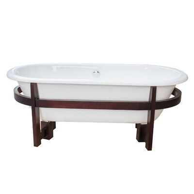 Halden Cast Iron 66 x 30 Freestanding Soaking Bathtub