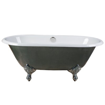 Rosa Cast Iron Clawfoot 60 x  30 Freestanding Soaking Bathtub