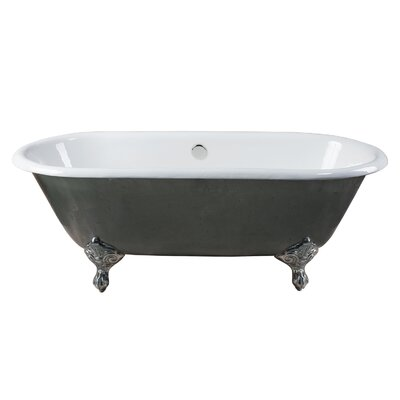 Rosa Cast Iron Clawfoot 66 x 30 Freestanding Soaking Bathtub