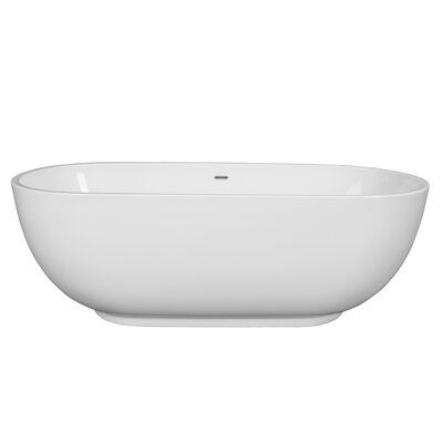 Clara 71 x 32 Freestanding Soaking Bathtub