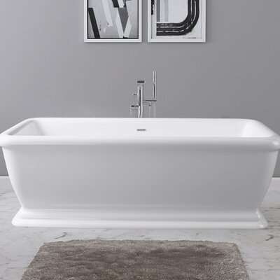 Florence 69 x 32 Freestanding Soaking Bathtub