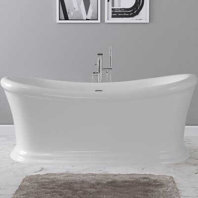 Ida 67 x 29 Freestanding Soaking Bathtub