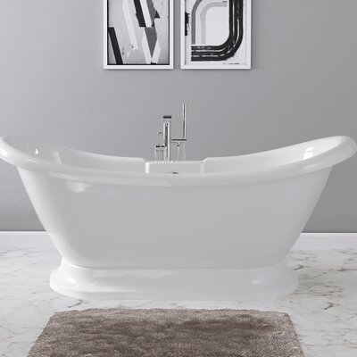 Dorothy 69 x 28 Freestanding Soaking Bathtub