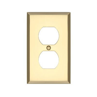 Graham Single Duplex Socket Plate Finish: Polished Brass