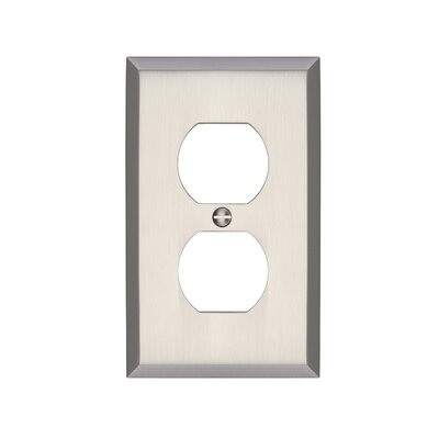 Graham Single Duplex Socket Plate Finish: Brushed Nickel