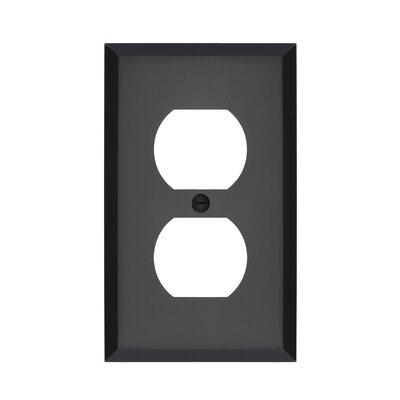 Graham Single Duplex Socket Plate Finish: Oil-Rubbed Bronze