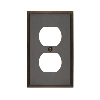 Graham Single Duplex Socket Plate Finish: Antique Brass