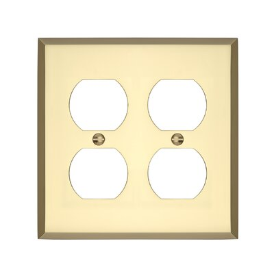 Graham Double Duplex Socket Plate Finish: Polished Brass