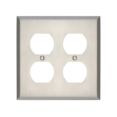 Graham Double Duplex Socket Plate Finish: Brushed Nickel