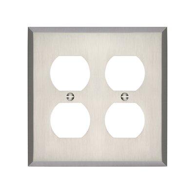 Graham Double Duplex Socket Plate Finish: Brushed Nickel