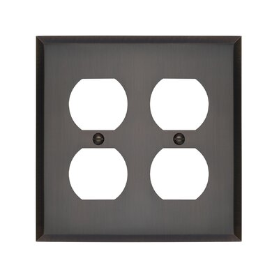 Graham Double Duplex Socket Plate Finish: Antique Brass