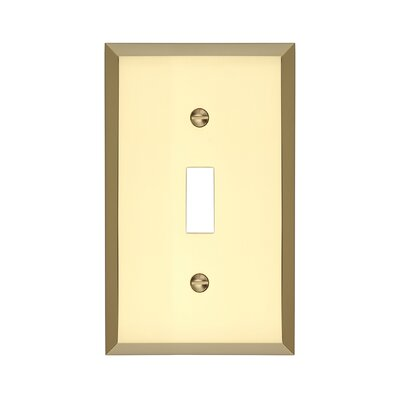 Graham Single Light Switch Cover Finish: Polished Brass