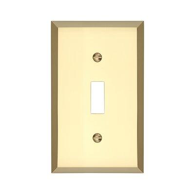 Graham Single Light Switch Cover Finish: Polished Brass
