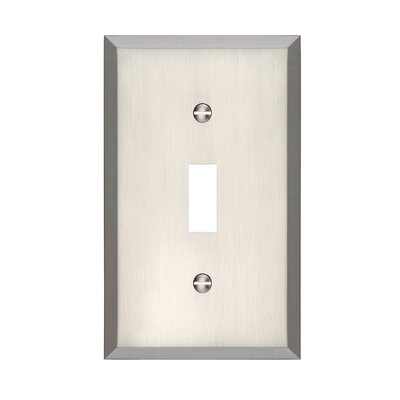 Graham Single Light Switch Cover Finish: Brushed Nickel