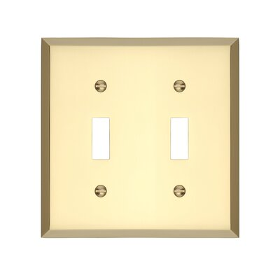 Graham Double Light Switch Cover Finish: Polished Brass