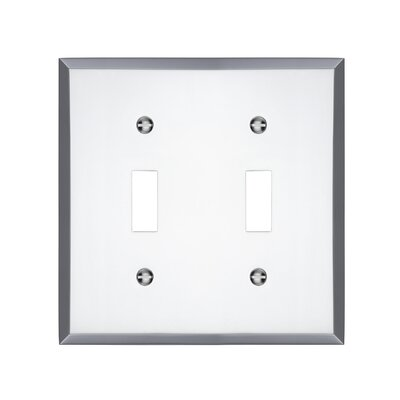 Graham Double Light Switch Cover Finish: Polished Chrome
