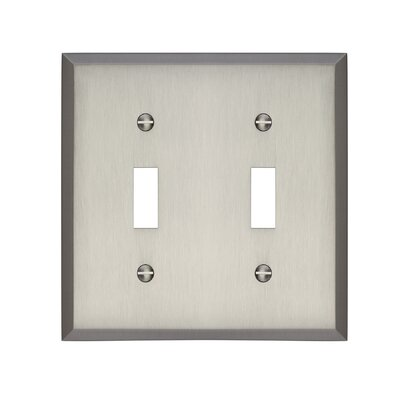 Graham Double Light Switch Cover Finish: Brushed Nickel