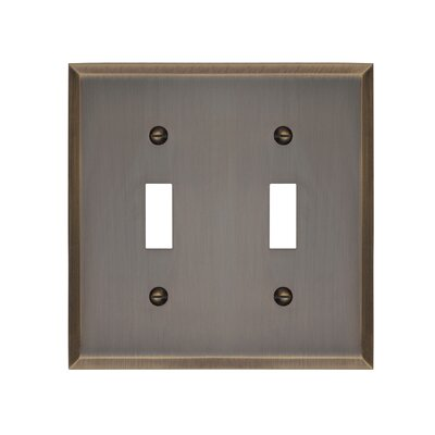 Graham Double Light Switch Cover Finish: Antique Brass
