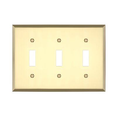 Graham Triple Light Switch Cover Finish: Polished Brass