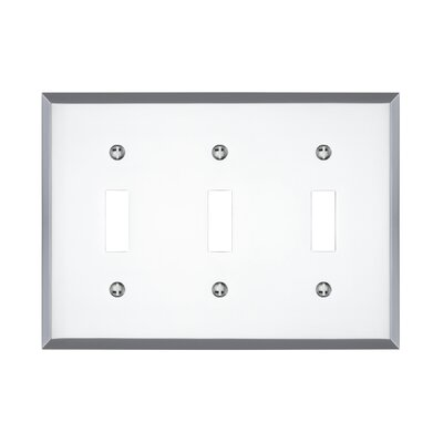Graham Triple Light Switch Cover Finish: Polished Chrome