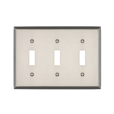Graham Triple Light Switch Cover Finish: Brushed Nickel