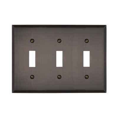 Graham Triple Light Switch Cover Finish: Antique Brass