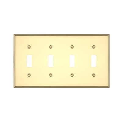 Graham Quad Light Switch Cover Finish: Polished Brass