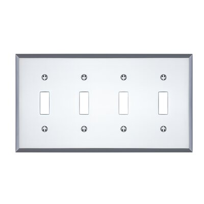 Graham Quad Light Switch Cover Finish: Polished Chrome
