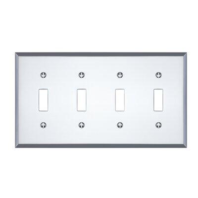 Graham Quad Light Switch Cover Finish: Polished Chrome