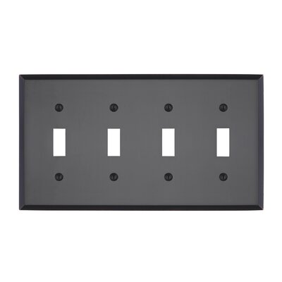 Graham Quad Light Switch Cover Finish: Oil-Rubbed Bronze