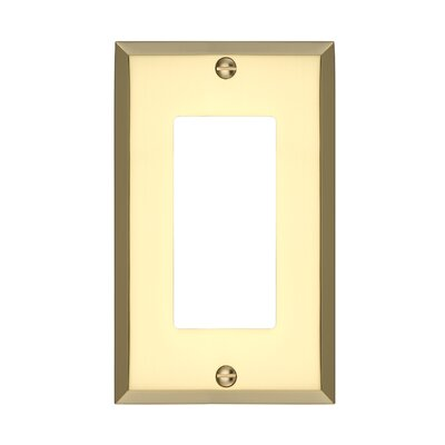 Graham Single Rocker Light Switch Cover Finish: Polished Brass