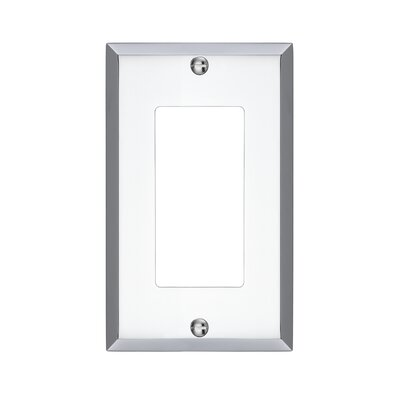 Graham Single Rocker Light Switch Cover Finish: Polished Chrome