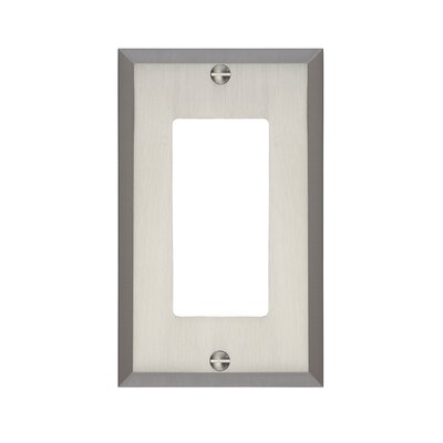 Graham Single Rocker Light Switch Cover Finish: Brushed Nickel