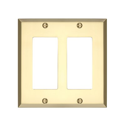Graham Double Rocker Light Switch Cover Finish: Polished Brass