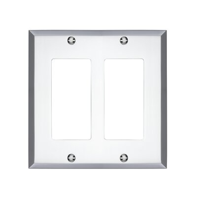Graham Double Rocker Light Switch Cover Finish: Polished Chrome