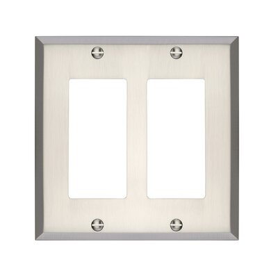 Graham Double Rocker Light Switch Cover Finish: Brushed Nickel