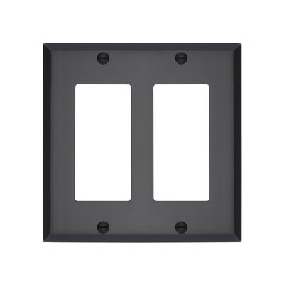 Graham Double Rocker Light Switch Cover Finish: Oil-Rubbed Bronze