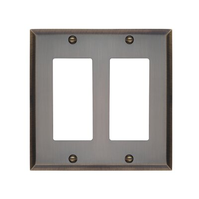 Graham Double Rocker Light Switch Cover Finish: Antique Brass
