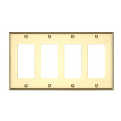 Graham Quad Rocker Light Switch Cover Finish: Polished Brass
